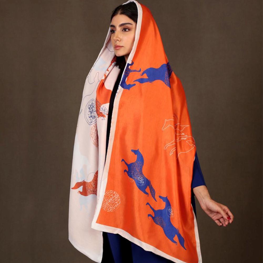 شال و روسری نارنجی را با چه رنگ هایی بپوشیم؟